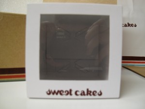 Individual cupcake box with window